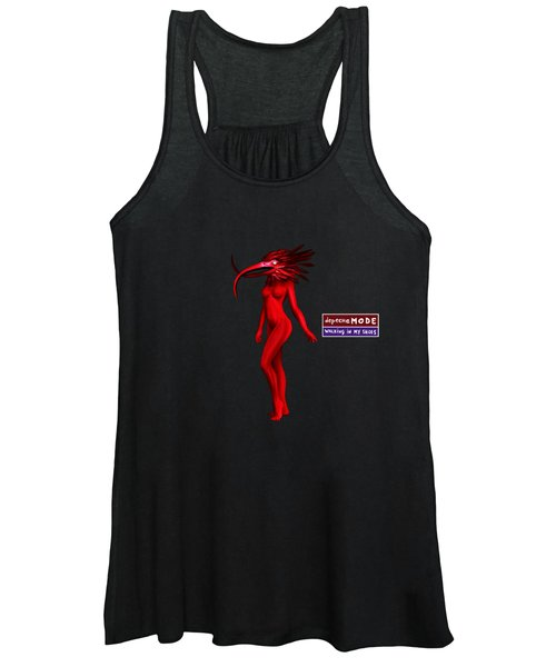 My Walking In My Shoes Girl 07 - Red Blue - Square Women's Tank Top