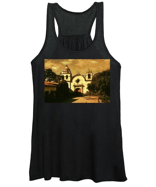 Old Carmel Mission - Watercolor Painting Women's Tank Top