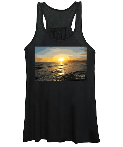 Pacific Sunset Impressionism, Santa Monica, California Women's Tank Top