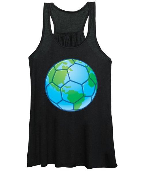 Planet Earth World Cup Soccer Ball Women's Tank Top