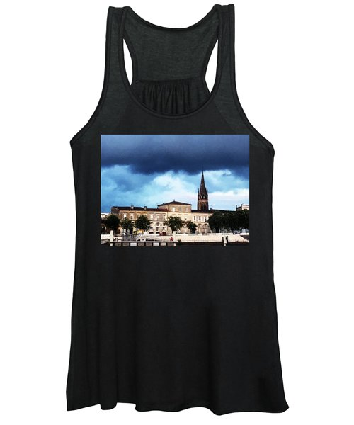 Women's Tank Top featuring the photograph Poking The Storm by Rick Locke