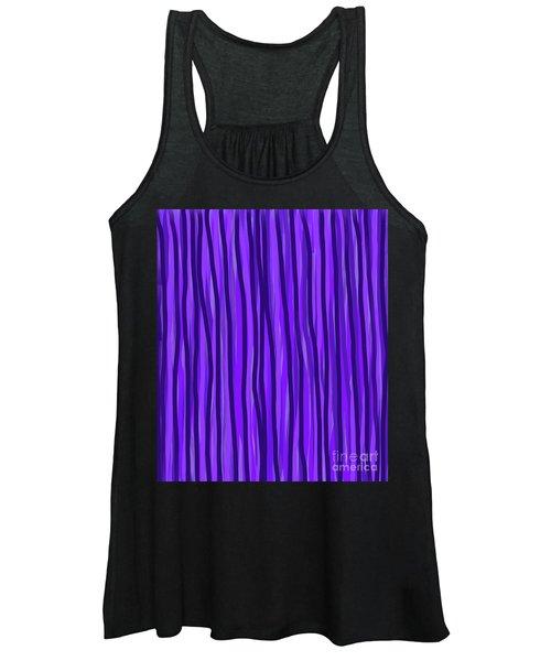 Purple Lines Women's Tank Top