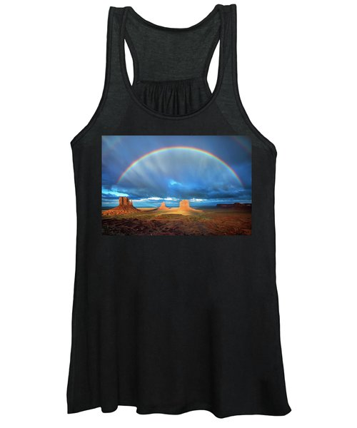 Rainbow Over The Mittens Afternoon Women's Tank Top