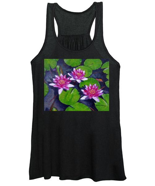 Rancho Water Lilies Women's Tank Top