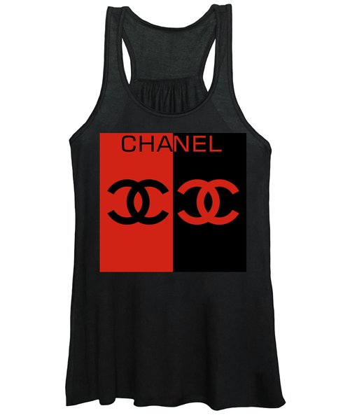 Red And Black Chanel Women's Tank Top