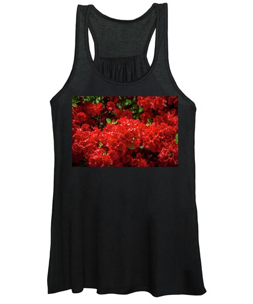 Red Flowers Women's Tank Top