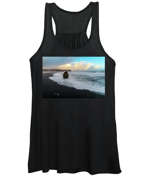 Reynisfjara Beach At Sunset Women's Tank Top