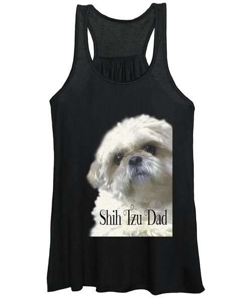 Shih Tzu For Dad Women's Tank Top