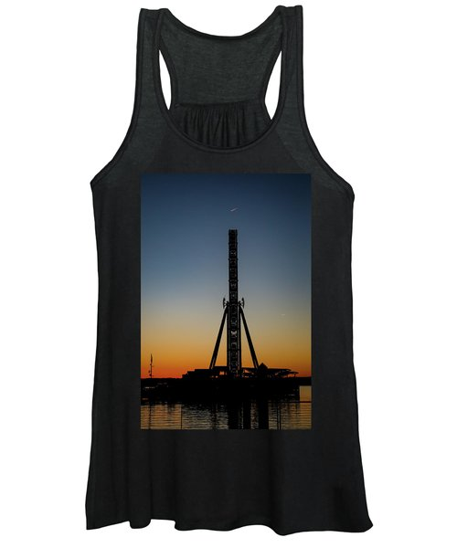 Silhouette Of A Ferris Wheel Women's Tank Top