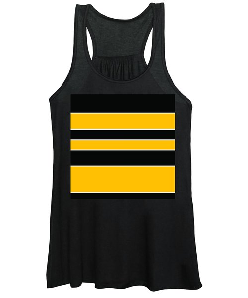 Stacked - Black And Yellow Women's Tank Top