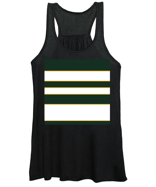 Stacked - Green, White And Yellow Women's Tank Top