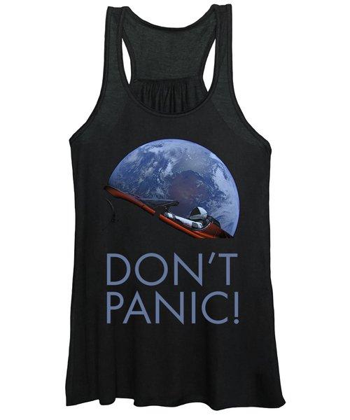 Starman Don't Panic In Orbit Women's Tank Top