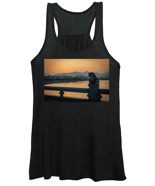 Sunrise In Longquan Seen From Gargoyle Bridge Women's Tank Top