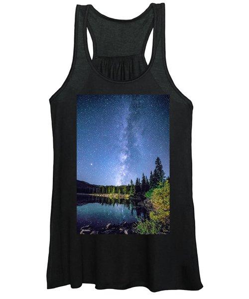 The Milky Way Over Echo Lake Women's Tank Top