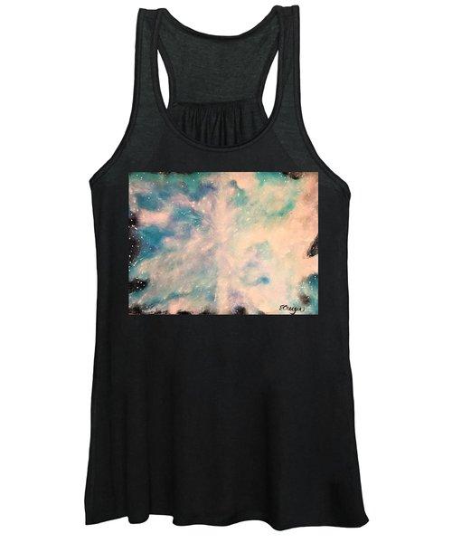 Turquoise Cosmic Cloud Women's Tank Top
