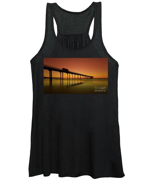 Twilight On The Beach Scripps Pier La Jolla San Diego Ca Women's Tank Top