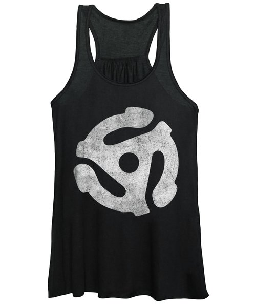 Vintage 45 Rpm Record Adapter Women's Tank Top