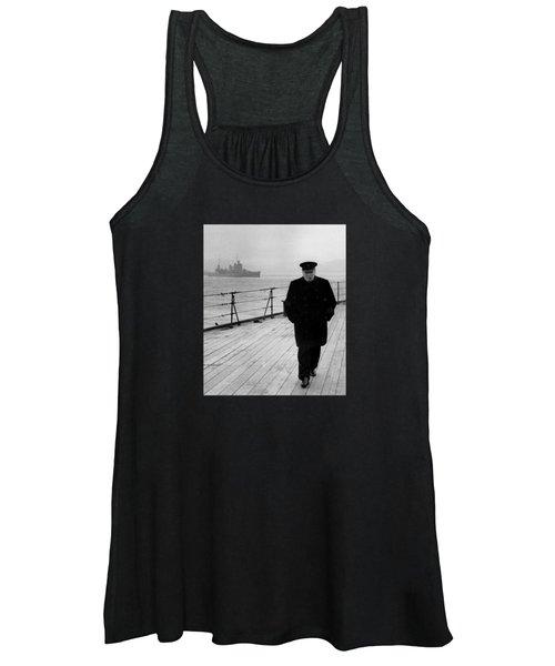 Winston Churchill At Sea Women's Tank Top