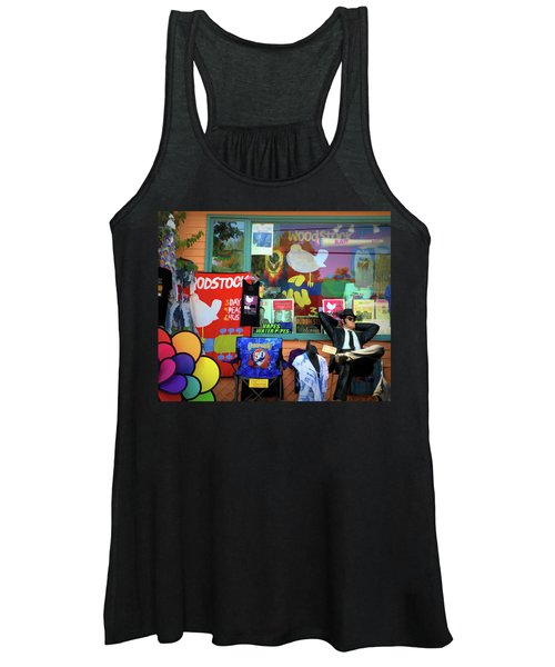 Woodstock Peace And Love 3 Women's Tank Top