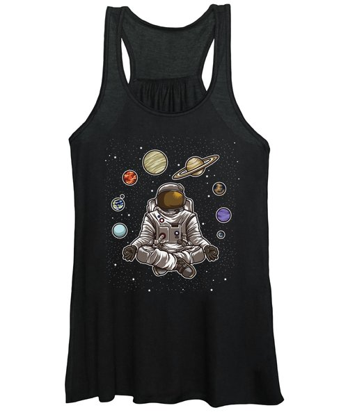 Yoga Astronaut Meditates In Space And Feels The Galaxy Women's Tank Top