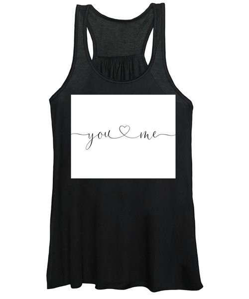 You And Me Black And White Women's Tank Top