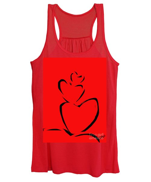 A Stack Of Hearts Women's Tank Top
