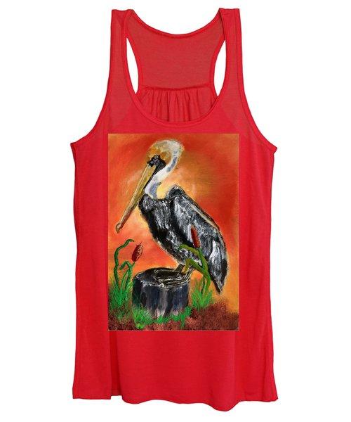 082914 Pelican Louisiana Pride Women's Tank Top