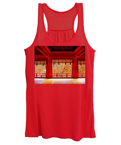 Japan Red Women's Tank Top