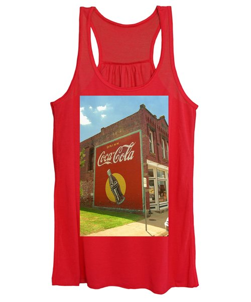 Route 66 - Coca Cola Ghost Mural Women's Tank Top