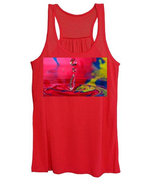 Colorful Water Drop Women's Tank Top