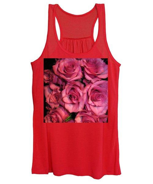 Rosebouquet In Pink Women's Tank Top