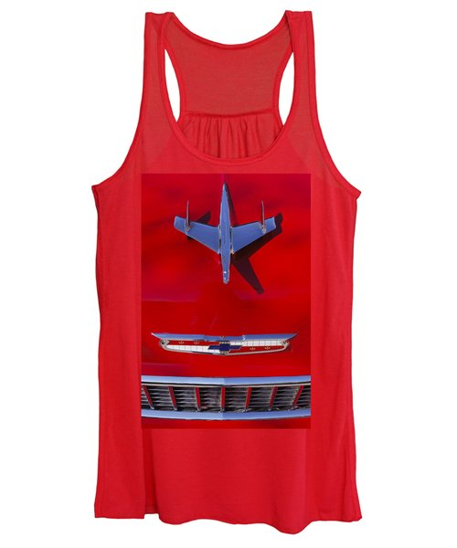 1955 Chevrolet Belair Nomad Hood Ornament Women's Tank Top