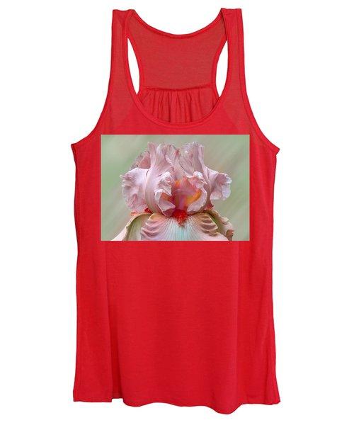 Pink Electrabrite Bearded Iris Women's Tank Top