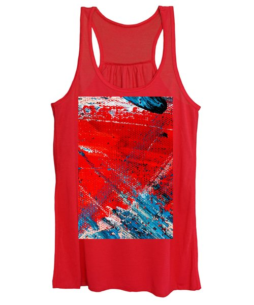 Abstract Original Artwork One Hundred Phoenixes Untitled Number Five Women's Tank Top