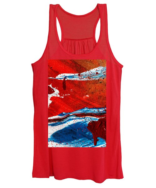 Abstract Original Artwork One Hundred Phoenixes Untitled Number Three Women's Tank Top