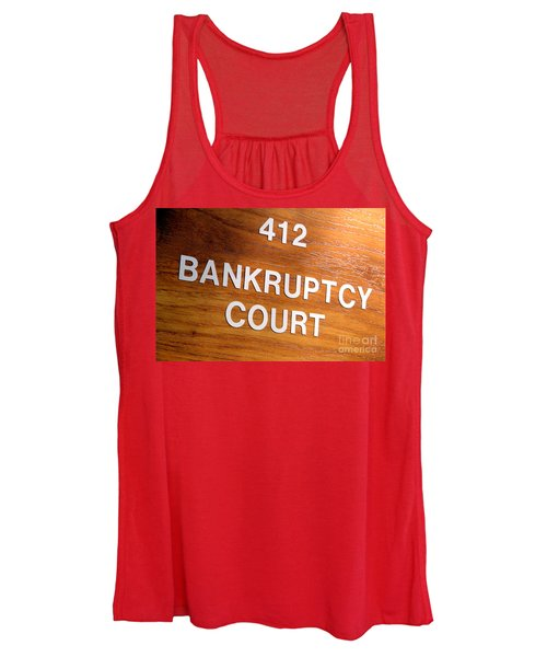 Bankruptcy Court Women's Tank Top