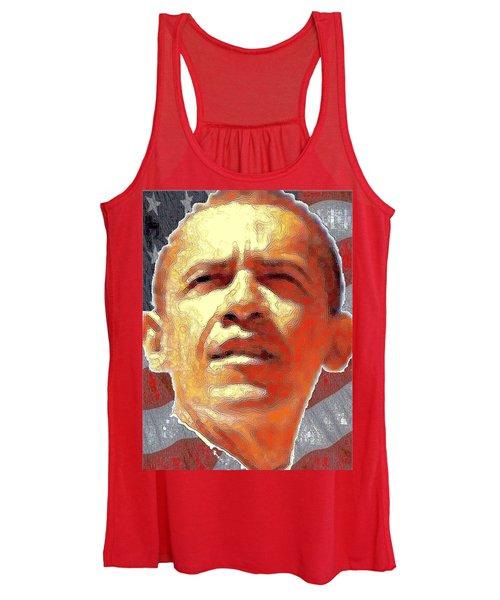 Barack Obama Portrait - American President 2008-2016 Women's Tank Top