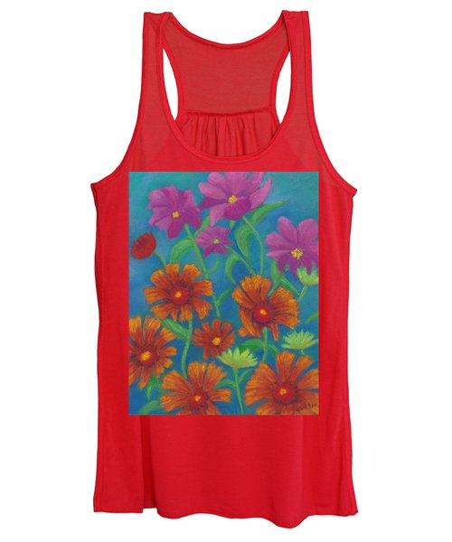 Blanket Flowers And Cosmos Women's Tank Top