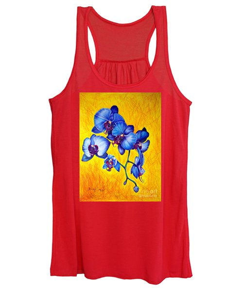 Blue Orchids 1 Women's Tank Top