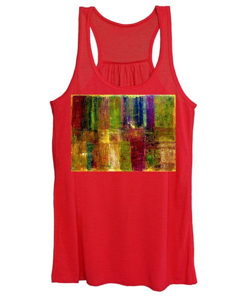 Color Panel Abstract Women's Tank Top