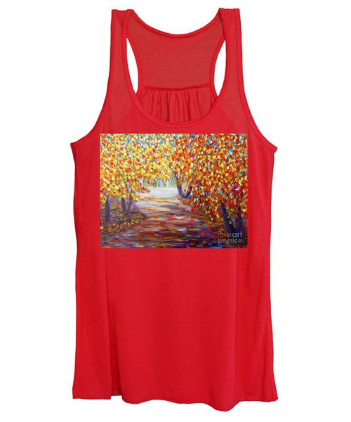 Colorful Autumn Women's Tank Top