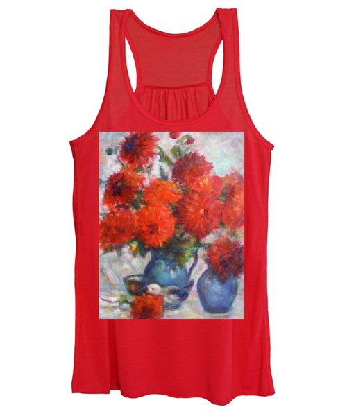 Complementary - Original Impressionist Painting - Still-life - Vibrant - Contemporary Women's Tank Top