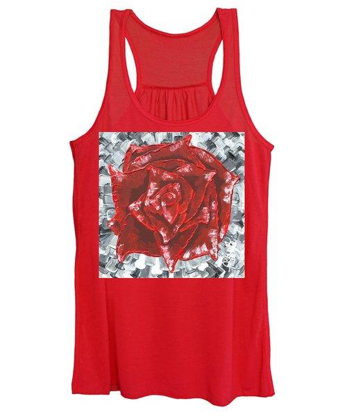 Concrete Rose  Women's Tank Top