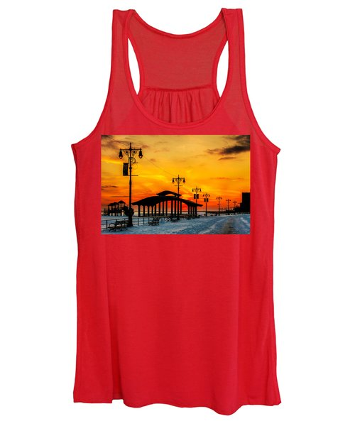 Coney Island Winter Sunset Women's Tank Top