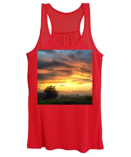 Country Scene From Hilltop To Hilltop Women's Tank Top