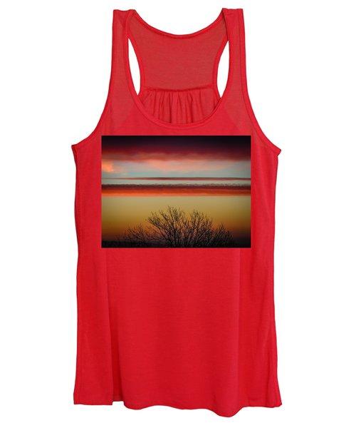 Women's Tank Top featuring the photograph Crimson Clouds At Sunrise by James Truett