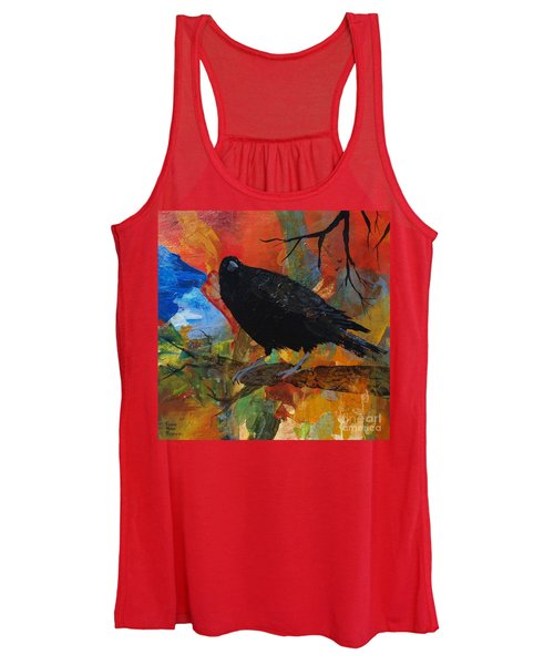 Crow On A Branch Women's Tank Top