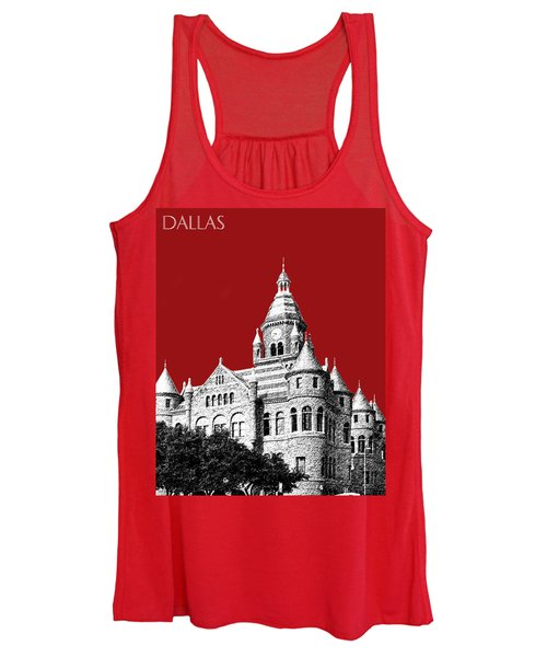 Dallas Skyline Old Red Courthouse - Dark Red Women's Tank Top