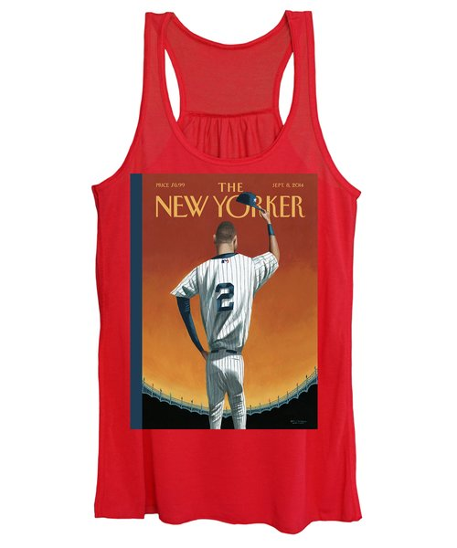 Derek Jeter Bows Out Women's Tank Top