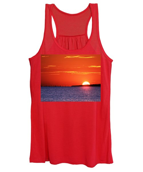 Women's Tank Top featuring the photograph Fort Story Sunrise by Pete Federico